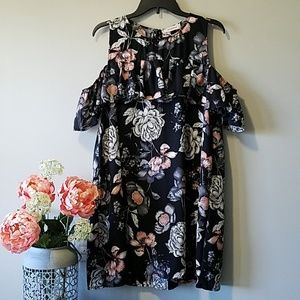 NWOT Peach Love Cold-shoulder Dress